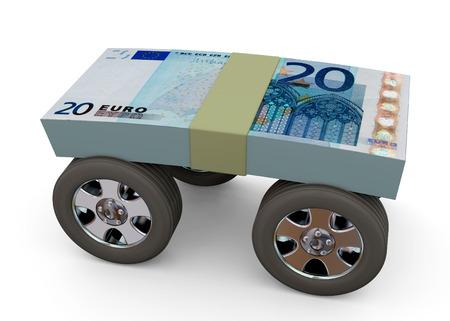 Money on Wheels - 3D Imagens