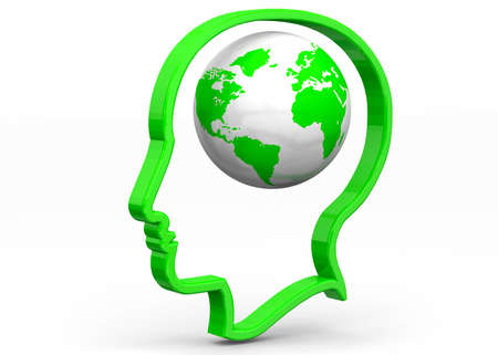rationality: World in the Mind 3D Stock Photo