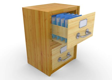 archives: Folder in the Archives 3D Stock Photo