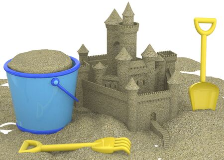 estival: The Sandcastle on the Beach Archivio Fotografico