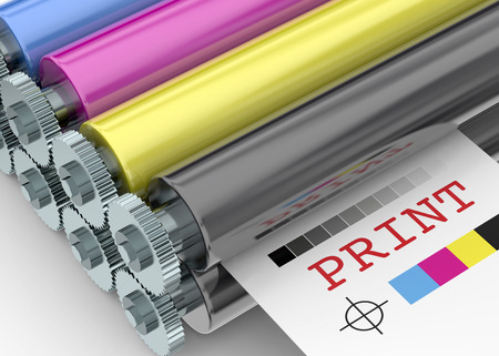Print Machine on white background