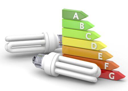 energy saving: Energy Saving Concept on white background