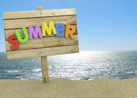 Summer Signboard on the Beach