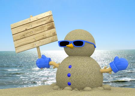 Sandman On The Beach 3D