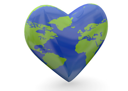 preservation: Earth by Heart and love concept
