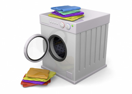 Washer and Energy Saving Concept - 3D Imagens