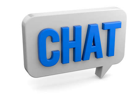 Chat Talk on white background