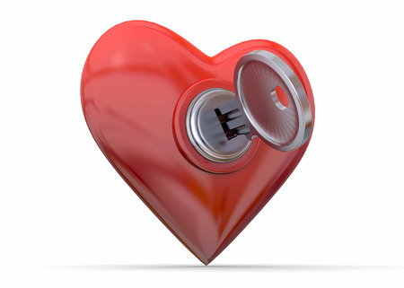 courtship: The Key of the Heart Stock Photo