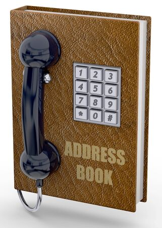 address book: Phone and address book concept Stock Photo