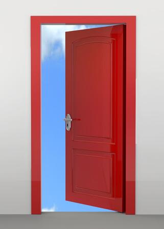 Open Door and blue sky