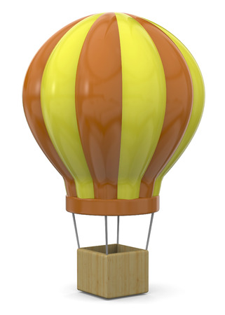 Hot Air Balloon on white background Imagens