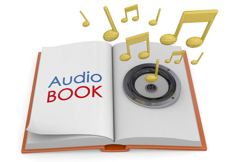 Audiobook Concept on white background