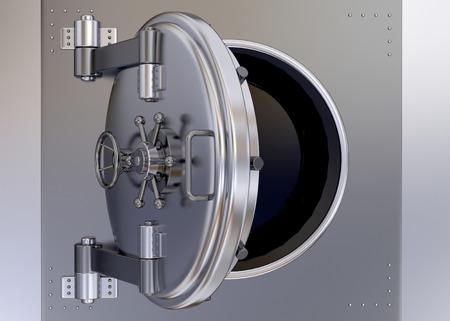 Armoured Safe in render 3d