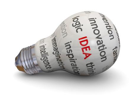 Light Bulb and Idea Concept Imagens