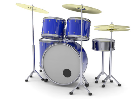3D Drums on white background