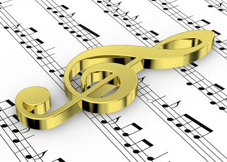 pentagramma musicale: Chiave di violino e note sul pentagramma