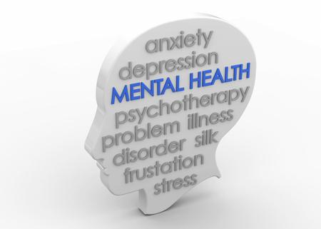 Mental Health 3D Imagens