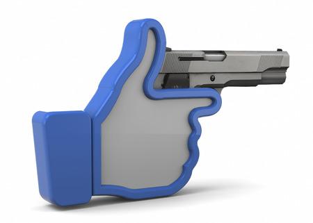 Socials Kill 3d concept