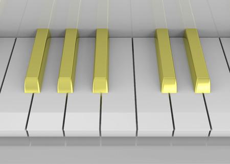 Golden Floor 3d Render