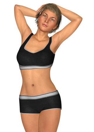 Sexy girl 3d render Imagens - 93755464