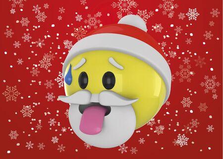 Tired Santa Claus 3d