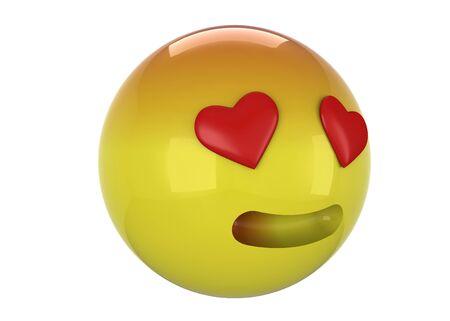 Fall in love 3d emoticon