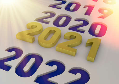 New Year 2021 - 3D