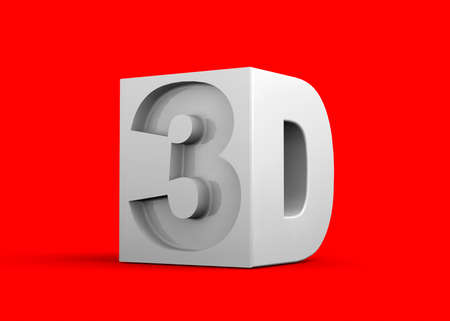 3d Icon on colorful background
