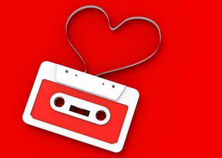 Loving the music - Old Style Cassette tape - 3D