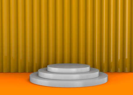Round Podium on colorfull Background - 3D