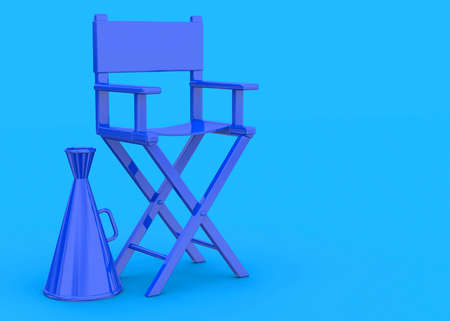 Colorful Director's Chair - 3D