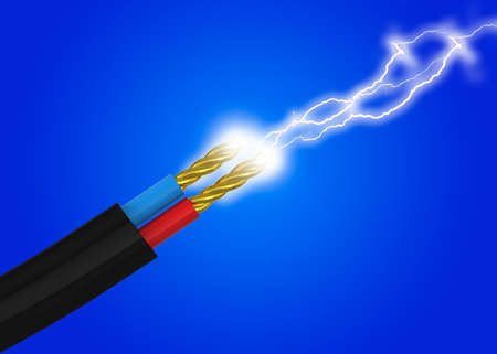 Electricity power and Cable - 3D