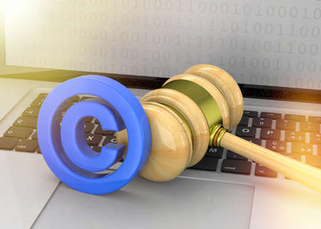 Protect the Copyright - 3D Concept Imagens