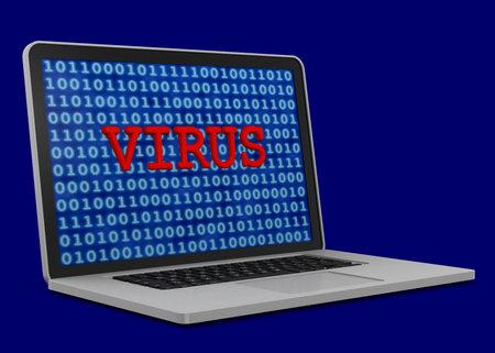 Virus inside the computer - 3D Imagens