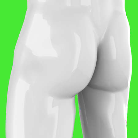 Buttocks of a statue in pop art style - 3D Imagens