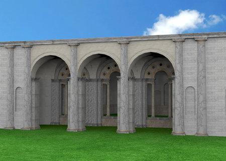 Ancient Roman Temple - 3D