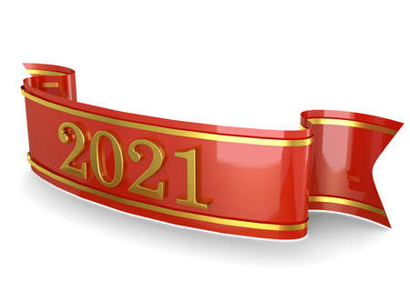 Ribbon New Year 2021 - 3D