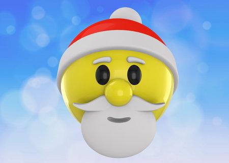 Santa Claus Emoticon - 3D Imagens