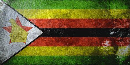 zimbabwe: grunge flag of Zimbabwe