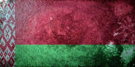 belarus: grunge flag of Belarus