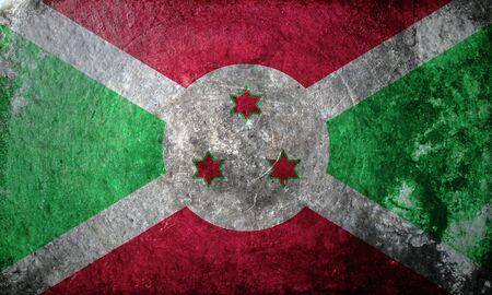 burundi: grunge flag of Burundi