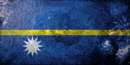 nauru: grunge flag of Nauru