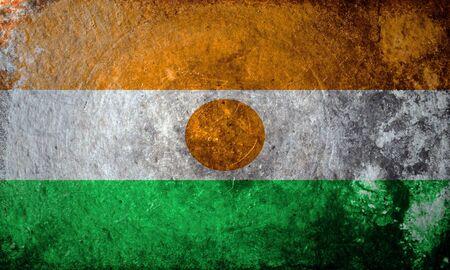 niger: grunge flag of Niger Stock Photo