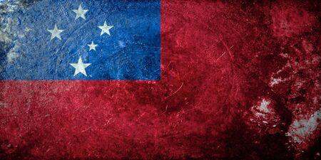 samoa: grunge flag of Samoa