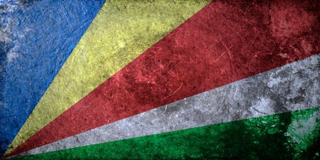 seychelles: grunge flag of Seychelles