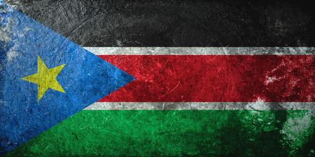 south sudan: grunge flag of South Sudan