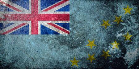 tuvalu: A grunge flag of Tuvalu
