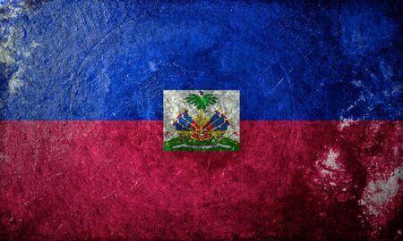 haiti: A grunge flag of Haiti