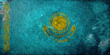 kazakhstan: A grunge flag of Kazakhstan Stock Photo
