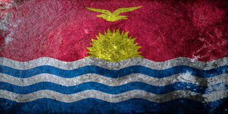 kiribati: A grunge flag of Kiribati